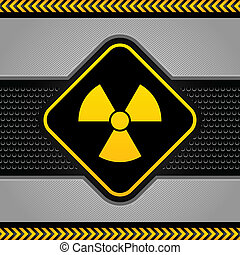 Radioactive symbol, abstract background industrial template
