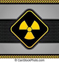industrial, radioactivo, Plano de fondo, Extracto, símbolo,...