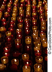 Sparks - Candles in memory about died in a cathedral of...
