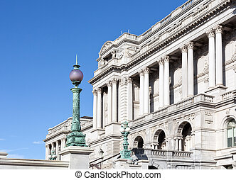 Facade of Library of Congress Washington DC