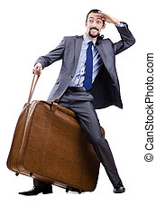 Business travel concept with businessman