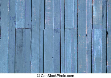 Blue color paint plank wall