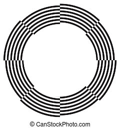 Spiral Design Illusion Frame - White on black frame, circle...