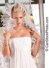 young blonde bride