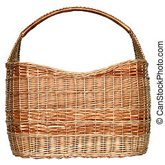 handmade wicker basket manually mastered of light brown rods