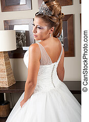 backside view of dress and hair - Brides backside view of...