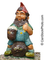 Gnome on Beer Barrel Park Sculpture