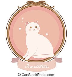 very cute cat frame