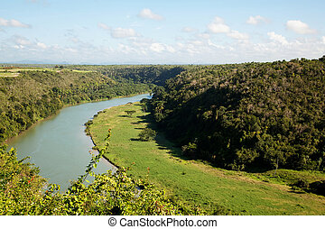 Altos de chavon hill and chavon river