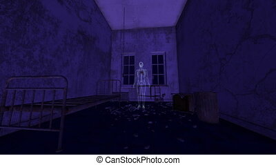 horror - image of haunted house