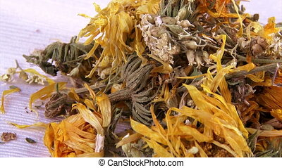 Calendula flowers, dried, tea