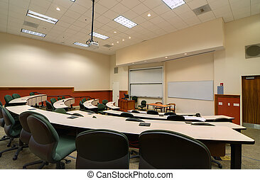 Lecture Hall - Interior of a college lecture hall