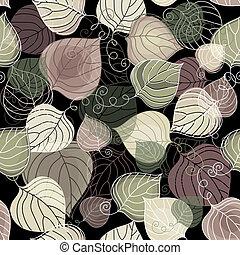 Dark autumn seamless pattern