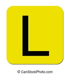 Learner Plates - Learner plates isolated against a white...