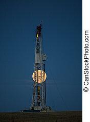 Night Shot Drilling Rig