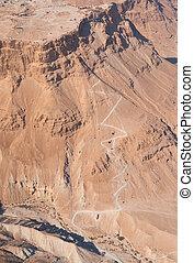 The Snake path to Masada fortress, Israel