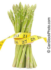 Lose weight concept, Asparagus with tape - Lose weight...