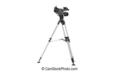 video camera and tripod