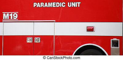 Paramedic truck. - Paramedic truck on standby.