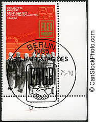 GERMANY - CIRCA 1975: A stamp printed in Germany shows...
