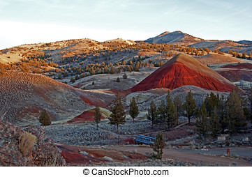 The Painted Hills at Twilight