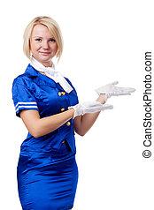 Beautiful stewardess.