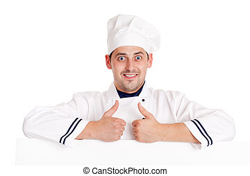 Chef man Isolated over white