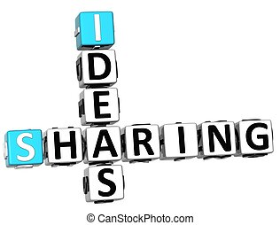 3D Sharing Ideas Crossword cube words