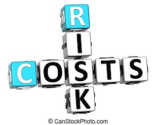 3D Costs Risk Crossword cube words
