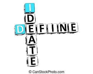 3D Define Ideate Crossword cube words