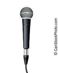 Microphone. Vector illustration - simple microphone with...