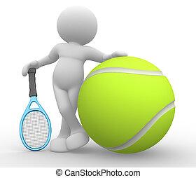 tênis, jogador