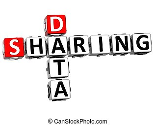 3D Sharing Data Crossword cube words