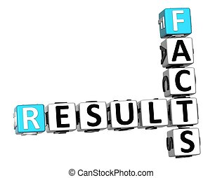 3D Result Facts Crossword cube words