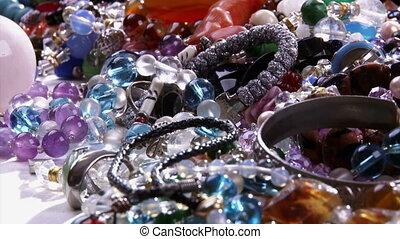 Jewelry, camera dolly, shiny treasure