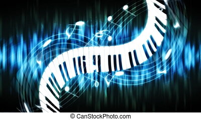 Blue Green Abstract Piano Music