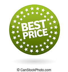 Best price shop label isolated