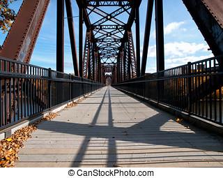 Vintage Steel Foot Bridge - Bonnie park Auburn to Lewiston...