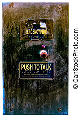 Emergency Call Box - Worm, distressed and abused police...