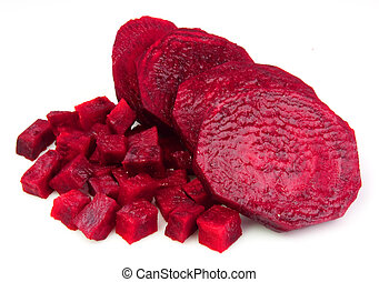 fresh beets  close up on white