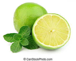 Sweet and juice citrus with mint