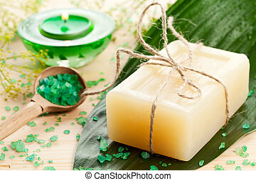 Aromatherapy concept with soap