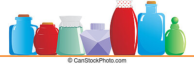 Jars on the shelf