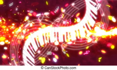 Music Streak Looping Background - Music Streak Looping...