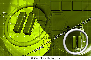 Pause sign - Digital illustration of pause sign in isolated...