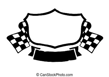 Vintage racing emblem - Isolated vector illustration of...