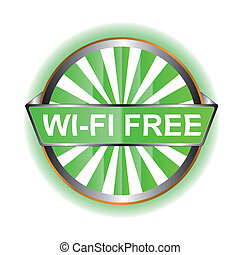 Wi-Fi icon - Wi-Fi web icon on a white background