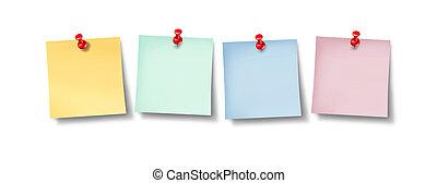 Blank Office Sticky Notes Design - Blank office sticky notes...