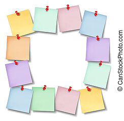 Office Notes Blank Frame - Office notes blank frame with...