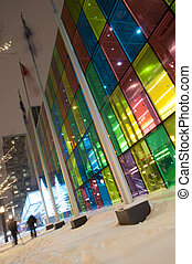 Palais des congres de Montreal at night